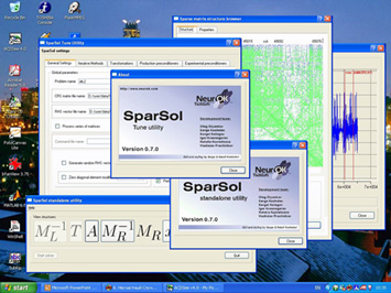 Screen shot of SparSol